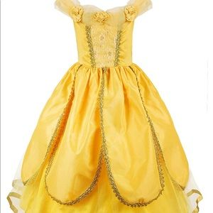 Princess Belle Costume Dress & Accessories